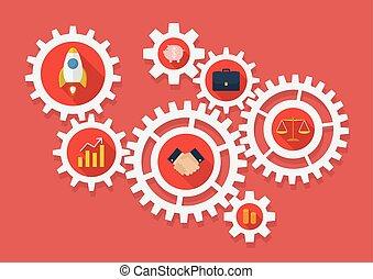 齒輪, 商務圖標