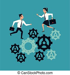 齒輪, 商業界人士