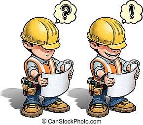 -, 建設工人, 計劃, 閱讀