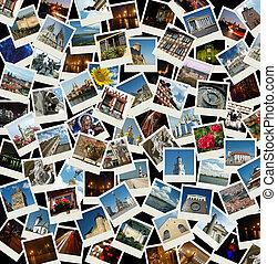 -, 旅行, 去, 背景, 界標, 歐洲, 相片, 歐洲