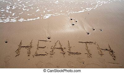 -, 沙子, 健康, 寫