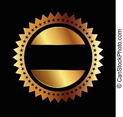 -, 獎章, 星, 金色的海豹