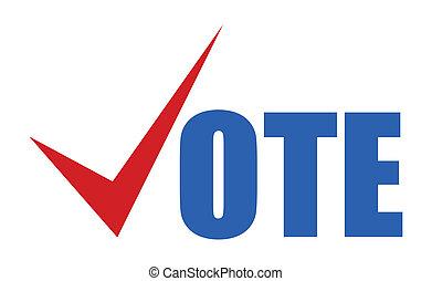 -, 簽署, 矢量, 選舉, 投票, 天