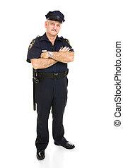 -, 身體, 警察, 被隔离, 充分