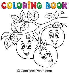1, 主題, 著色書, 水果