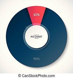 10, 使用, 事務, percent., 分享, 餅, chart., infographics., 罐頭, 90, 是