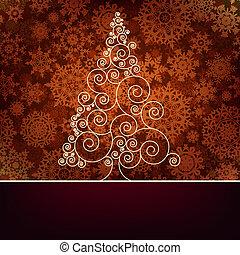 10, eps, 聖誕節, retro, template., 卡片