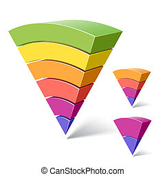 2-layered, 形狀, 金字塔, 6, 4