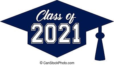 2021, 帽子, 類別, 裡面, 畢業