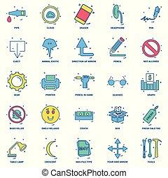 25, 概念, 事務, 套間, 顏色, 混合, 集合, 圖象