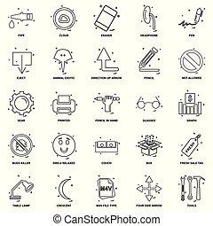 25, 概念, 事務, 混合, 集合, 線, 圖象