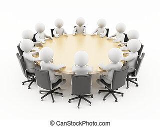 3d, 會議, 商業界人士