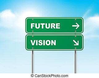 3d, 未來, 路, 視覺, 簽署