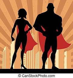 4, superhero, 夫婦