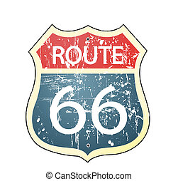 66, roadsign, 路線, grunge