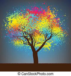 8, 摘要, 樹。, eps, 鮮艷