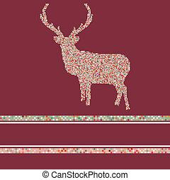 8, 馴鹿, silhouette., eps, 聖誕節