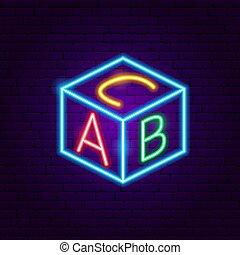 abc, 立方, 氖徵候