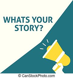 announcement., story?, 手, 演說, 藏品, whats, 擴音器, 氣泡, 你