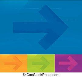 arrow., 方向, 各種各樣, 顏色, 背景