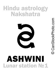 ashwini, astrology:, 車站, 月, (nakshatra)