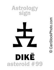 astrology:, 小行星, dik?