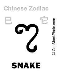 astrology:, 漢語, zodiac), (sign, 蛇