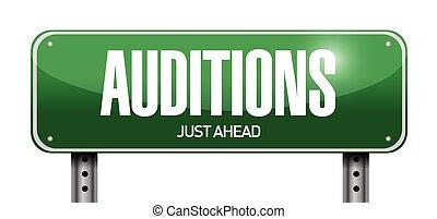 auditions, 設計, 插圖, 簽署