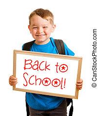 """back, 概念, school"", 簽署, 閱讀, 藏品孩子, 教育"