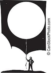 balloon, 空