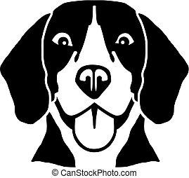 beagle, 頭