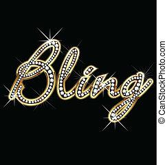 bling, 矢量, 詞