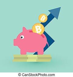 blockchain, 概念, ico, 圖象