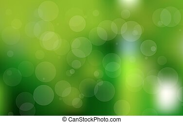 bokeh, 矢量, 綠色的背景