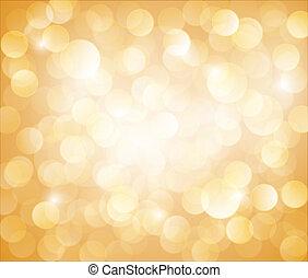 bokeh, 矢量, 陽光普照, 黃色的背景