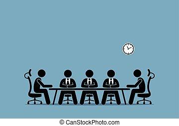 brainstorming, 討論, businessman.