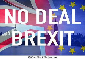 brexit, 交易, 不, 正文, 圖像, 協議, 概念性, 倫敦, 英國, 良好, 旗, symbolising, 在上方, 破壞
