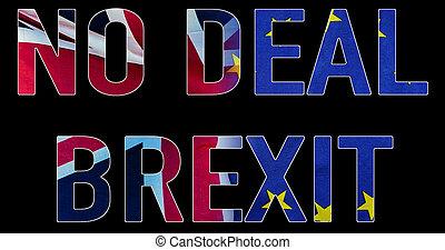 brexit, 交易, 不, 正文, 圖像, 協議, 概念性, 旗, 英國, 良好, symbolising, 在上方, 破壞