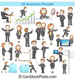 businesspeople, 彙整, 3d