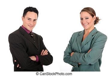 businesspeople, 微笑