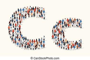 c, 組, 形式, 人們, 大, 信