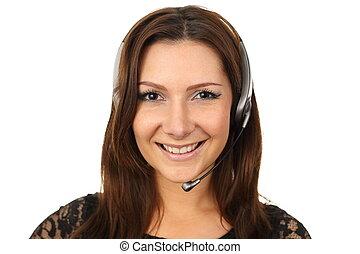 callcenter, 代理, 愉快