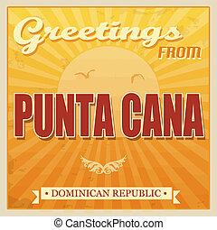 cana, punta, 多米尼加人, touristic, 海報, 共和國