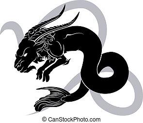 capricorn, 黃道帶, 簽署, 星象, 占星術