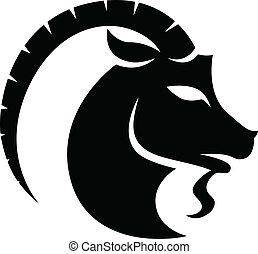 capricorn, 黑色, 黃道帶, 星徵候