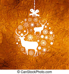 card., 8, 鹿, eps, 聖誕節