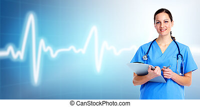 care., 醫生, 健康, 醫學, woman.