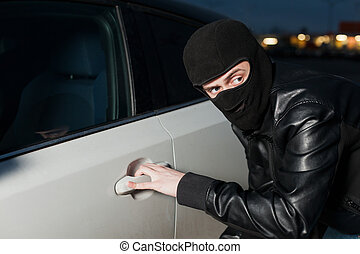 carjacking, 汽車保險, 危險, 概念