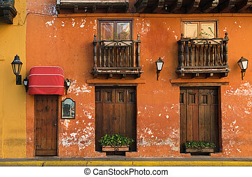 cartagena, 街道, 哥倫比亞
