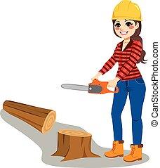 chainsaw, 婦女